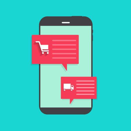 Online shopping Concept. Vector Illustration