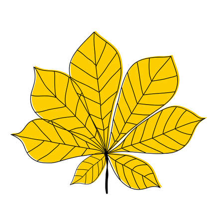 Chestnut leaf icon on white background. Vector Illustration EPS10