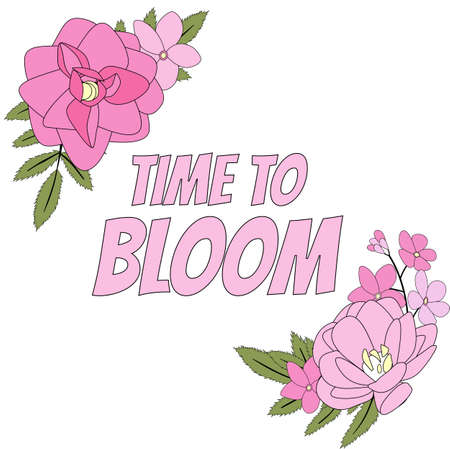 Time to Bloom Floral Natural Background. Vector Illustration EPS10 Ilustrace