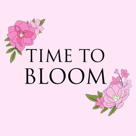 Time to Bloom Floral Natural Background. Vector Illustration EPS10 Vectores