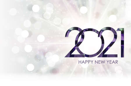 2021 New Year and Merry Christmas Background. Vector Illustration