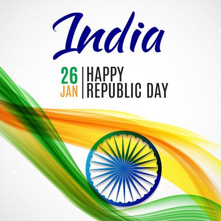 Happy India Republic Day26 January. Vector Illustration