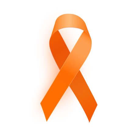 Orange Ribbon a Medical Symbol of Leukemia. Vector Illustration EPS10 Ilustracje wektorowe