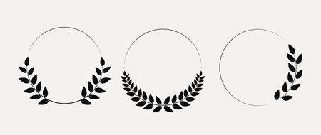 Laurel wreath collection set. Vector Illustration