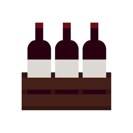 Wine bottles. Simple food icon in trendy style isolated on white background for web apps and mobile concept. Vector Illustration. EPS10 Stock Illustratie