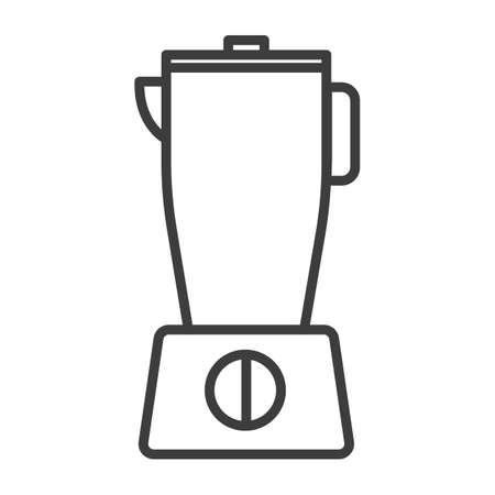 Chopping mixer, blender. Simple food icon in trendy line style isolated on white background for web applications and mobile concepts. Vector illustration. EPS10