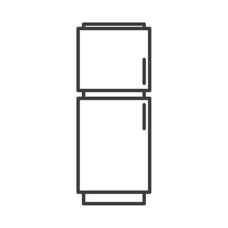 Fridge. Simple food icon in trendy line style isolated on white background for web apps and mobile concept. Vector Illustration. EPS10