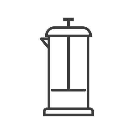 Teapot for tea, coffee. Simple food icon in trendy line style isolated on white background for web apps and mobile concept. Vector Illustration. EPS10