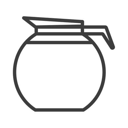 A jug for drinks, water. Simple food icon in trendy line style isolated on white background for web apps and mobile concept. Vector Illustration. EPS10