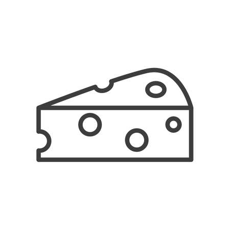 Cheese Simple food icon in trendy style isolated on white background for web apps and mobile concept. Vector Illustration. EPS10