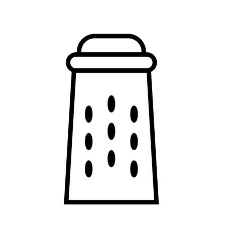 Grater for vegetables. Simple food icon in trendy line style isolated on white background for web applications and mobile concepts.