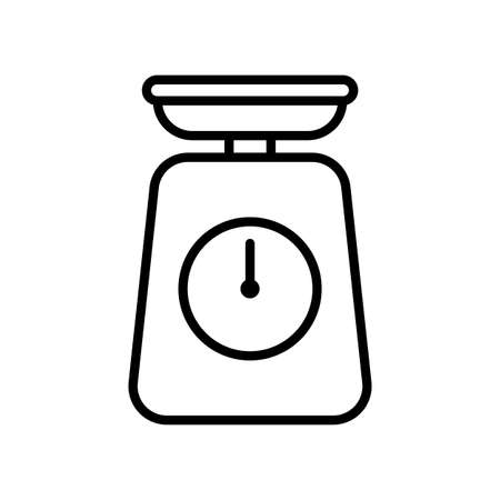 Kitchen scale. Simple food icon in trendy line style isolated on white background for web applications and mobile concepts.