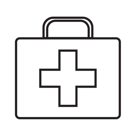 Doctor's case simple medical icon in trendy line style isolated on white background for web apps and mobile concept. Vector Illustration EPS10
