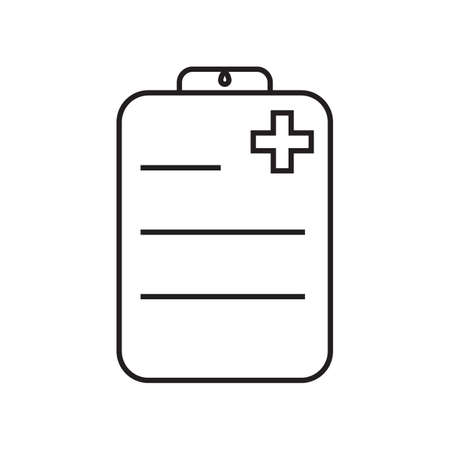 Doctor's planchette simple medical icon in trendy line style isolated on white background for web apps and mobile concept. Vector Illustration EPS10 Illustration