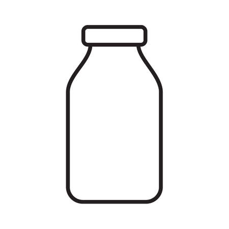 Bottle simple medical icon in trendy line style isolated on white background for web apps and mobile concept.