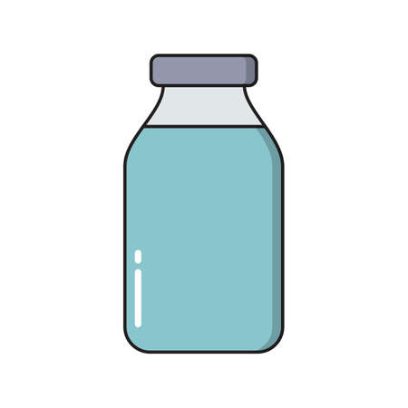 Bottle simple medical icon in trendy line style isolated on white background for web apps and mobile concept. Vector Illustration EPS10