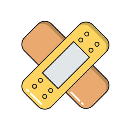 Patch simple medical icon in trendy line style isolated on white background for web apps and mobile concept. Vector Illustration EPS10