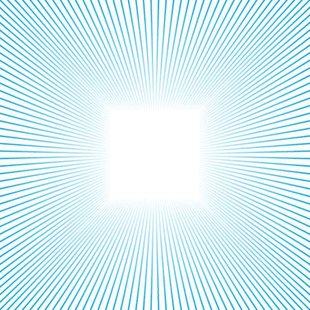 Abstract frame made of fading blue lines with white center. Vector Illustration. EPS10 Ilustração Vetorial