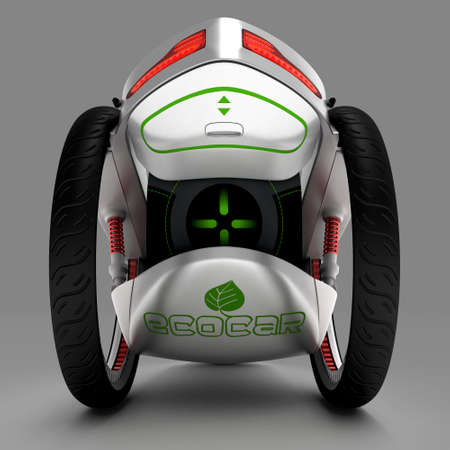 perplexity: The concept of a city electric vehicle. A cost-effective vehicle. 3D illustration.
