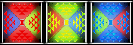 Decorative light abstract backgrounds. Art object. 3D illustration Stock Photo