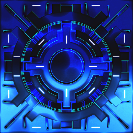 Decorative futuristic color backgrounds. Art object. 3D illustration Stock Photo