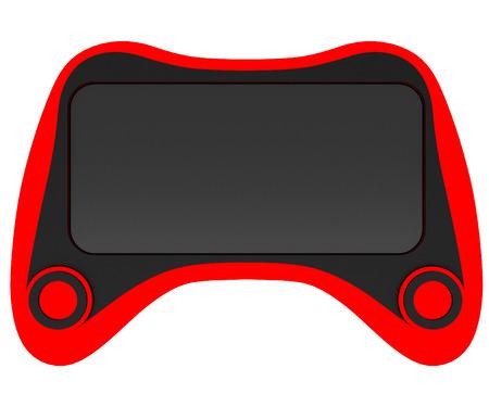 Phone case stylized for joystick. Art object. 3D illustration.