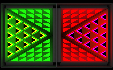 Stylistic abstract light background with a diverse geometric structure. Art object. 3D illustration.