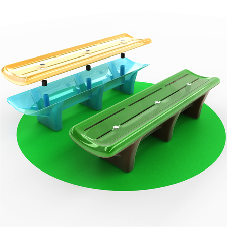Design of a bench from high-strength materials. Art object Illustration 3d model.