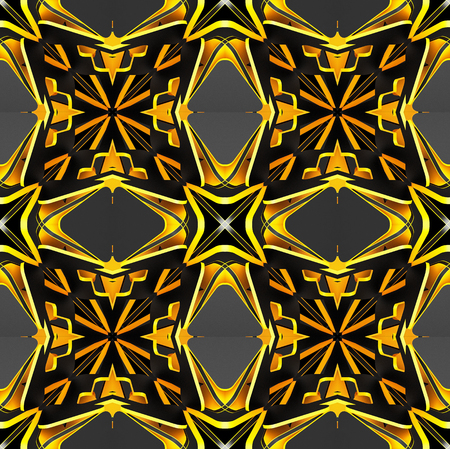 cubismo: Abstract decorative patterns backgrounds. Art object. 3d illustration Foto de archivo