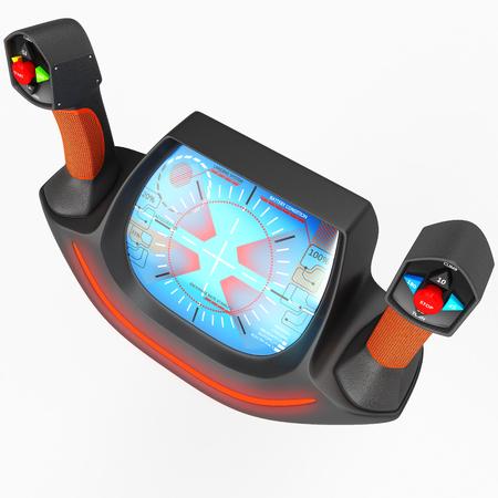 Touch multi-purpose joystick for control. 3D illustration. Stock Photo