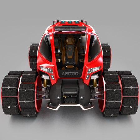 Exclusive design of a multi-purpose off-road cross-country vehicle for use in extreme conditions. 3D illustration. Stock Photo