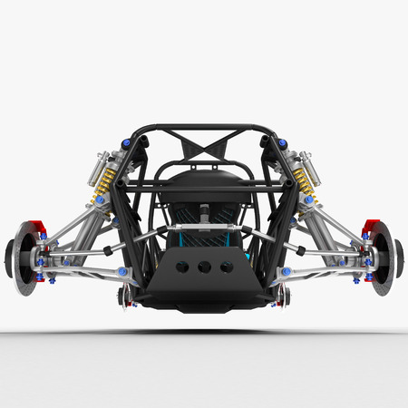 The Frame Frame Of The Sports Car Is A Buggy With The Basic Design ...