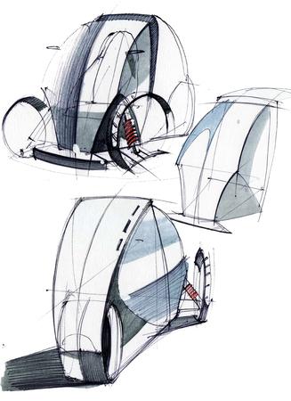 Diseño del bosquejo es un sistema de metal oxidado dañado clásico para la ilustración de la religión que se ejecuta por la mano en papel con la acuarela y la pluma Foto de archivo - 109114242