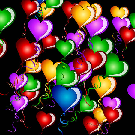 Hearts baloon background Vector