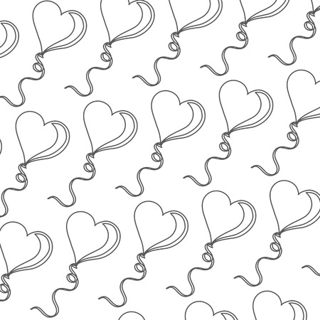 Hearts baloon pattern Vector