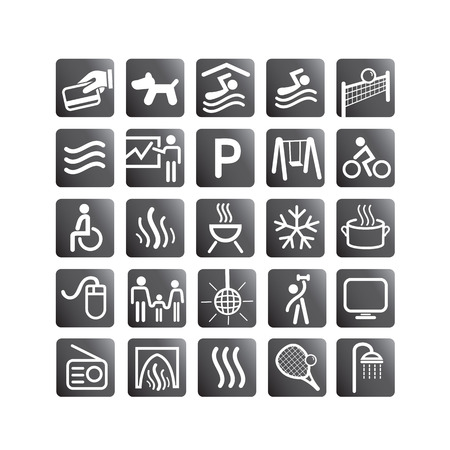 Recreation set icons Vector