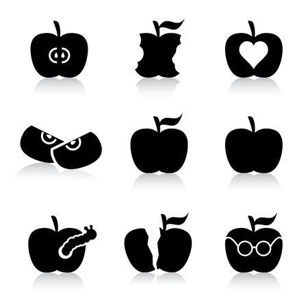 apple illustrations Vector