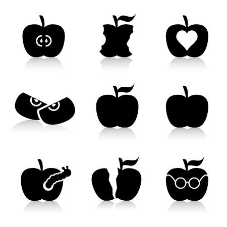 apple illustrations Vector