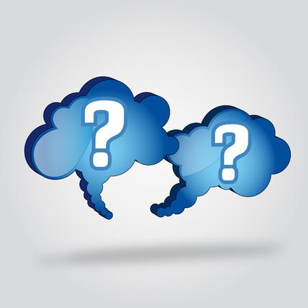 hesitation: Bubble cloud ask x 2 Illustration