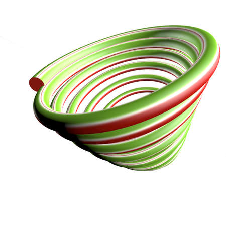 Swirl green and red