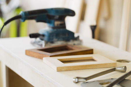furniture shop: The interior joinery, furniture shop, natural light Stock Photo