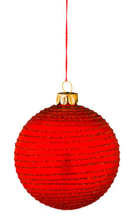 Christmas ball on an isolated white background