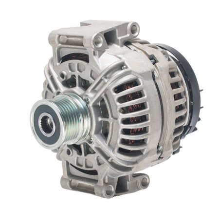 Car spare parts. Vehicle alternator on isolated white background Reklamní fotografie