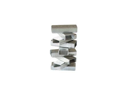 staples: Staples for stapler on a white background