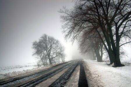 sleet: winter road