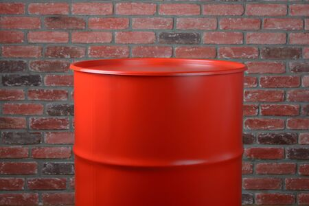 Big Iron Red Barrel in the industrial interior