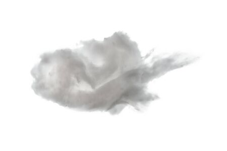 Beautiful white cloud isolated on white background - closeup Imagens