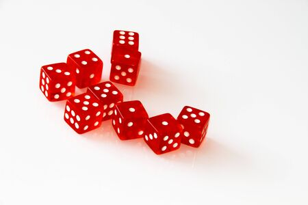 Casino dice isolated on white. set. isolate