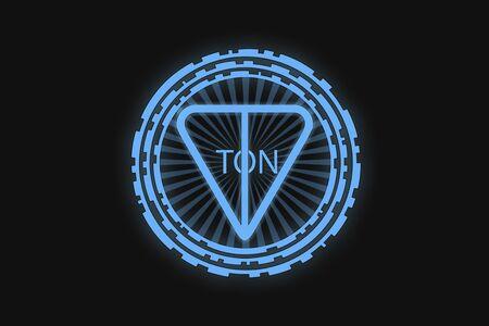 TON icon on a black background. Stok Fotoğraf