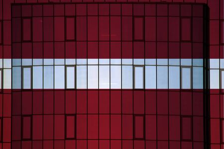 Latvia flag on the background texture. Concept for designer solutions. Stock Photo